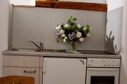 Küche in der Ferienwohnung Pfaffenstein